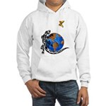 Gecko and Butterfly Hooded Sweatshirt