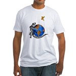 Gecko and Butterfly Fitted T-Shirt