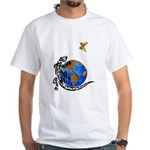 Gecko and Butterfly White T-Shirt