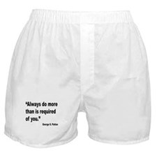 Patton Do More Quote Boxer Shorts