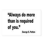Patton Do More Quote Postcards (Package of 8)