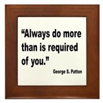 Patton Do More Quote Framed Tile