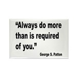 Patton Do More Quote Rectangle Magnet (10 pack)