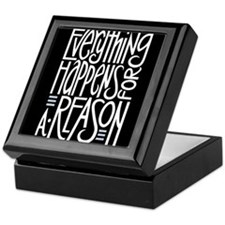 Everything Happens Black Keepsake Box