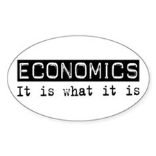 Economics Is Oval Sticker (50 pk)