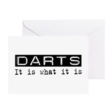 Darts Is Greeting Card