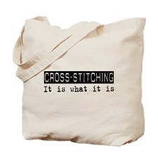 Cross-stitching Is Tote Bag