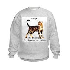 Cool people love bengals Sweatshirt