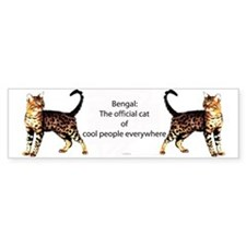 Cool people love bengals Bumper Bumper Sticker