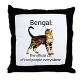 Cool people love bengals Throw Pillow