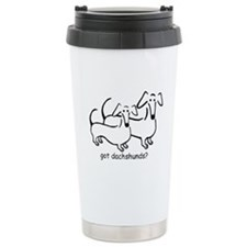 got dachshunds? Ceramic Travel Mug
