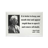 Mark Twain 41 Rectangle Magnet