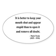 Mark Twain 41 Oval Bumper Stickers