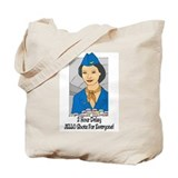 Funny Flight attendant Tote Bag