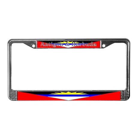 Antigua & Barbuda Flag License Plate Frame