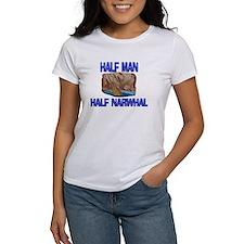 Half Man Half Narwhal Tee