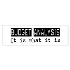 Budget Analysis Is Bumper Sticker (10 pk)