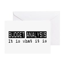 Budget Analysis Is Greeting Card