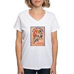 Quinquina Dubonnet Women's V-Neck T-Shirt