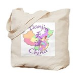 Tianjin China Map Tote Bag