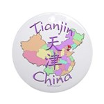 Tianjin China Map Ornament (Round)