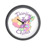 Tianjin China Map Wall Clock