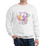 Tianjin China Map Sweatshirt