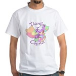 Tianjin China Map White T-Shirt