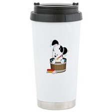 Doggie Bath Ceramic Travel Mug