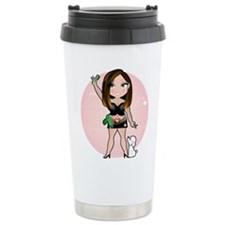 Dainty Hairstylist Ceramic Travel Mug
