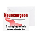 Neurosurgeon Red Greeting Card