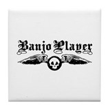 Banjo Player Tile Coaster