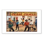 Jesse James Rectangle Sticker 10 pk)