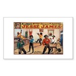 Jesse James Rectangle Sticker