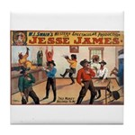 Jesse James Tile Coaster