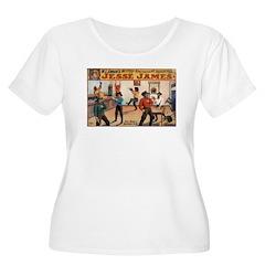 Jesse James Women's Plus Size Scoop Neck T-Shirt