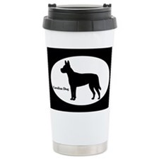 Carolina Dog Silhouette Ceramic Travel Mug