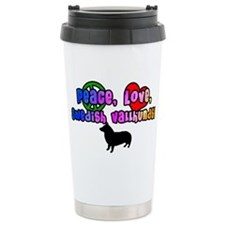 Hippie Swedish Vallhund Ceramic Travel Mug