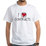 I Luv Contracts White T-Shirt
