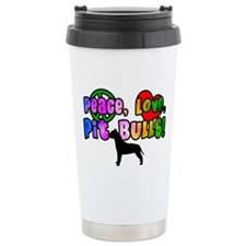 Hippie Pit Bull Ceramic Travel Mug