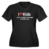 The Kids Lunchtime Women's Plus Size V-Neck Dark T