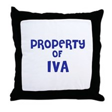 Property of Iva Throw Pillow