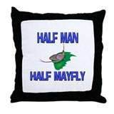 Half Man Half Mayfly Throw Pillow