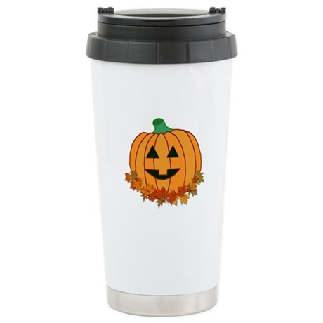 Halloween Jack-o-lantern Ceramic Travel Mug