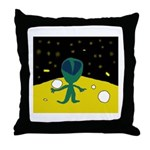 Piper's Alien Throw Pillow