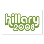Hillary 2008 Rectangle Sticker 10 pk)