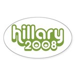 Hillary 2008 Oval Sticker (10 pk)