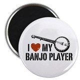 I Love My Banjo Player Magnet