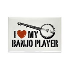 I Love My Banjo Player Rectangle Magnet