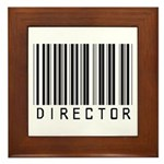 Director Barcode Framed Tile